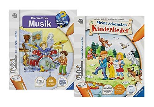 Ravensburger tiptoi Bücher Set - Meine Schönsten Kinderlieder und Die Welt der Musik