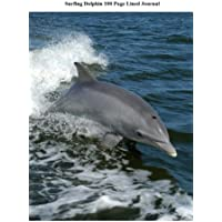 Surfing Dolphin Journal: Blank 100 Page Lined Journal for Your Thoughts, Ideas, and Inspiration - Surfing Dolphins