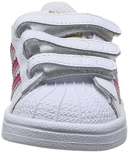 adidas - Superstar Foundation, Senakers a collo basso infantile Ftwwht/Bopink/Ftwwht