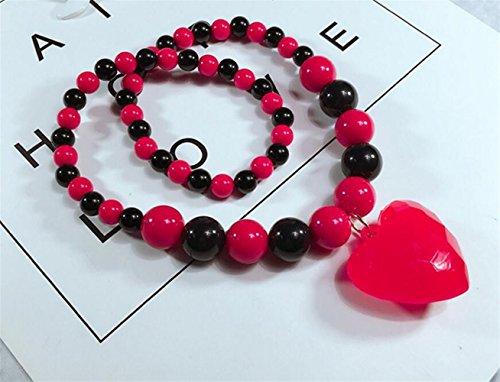 Driverder Exquisite und schöne Halskette Kleines Mädchen Herz Perle Simulierte Halskette Schmuck Sammlungen Charme Armband Perlen Halskette (Kostüm Charme Armbänder)