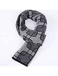 XIAOLIN-- Scarf Men 2017 Autumn And Winter Geometric Patterns Anti-static Gift Box Packaging 3 Colors --Outdoor warm scarf ( Color : B )