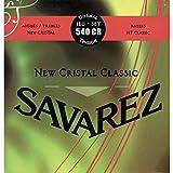 Savarez 656167 - Cuerdas para Guitarra Clásica New Cristal Classic juego 540CR  Tensión normal, rojo