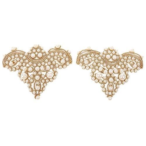 Coser Par Del Oro En Apliques De Perlas Diamantes