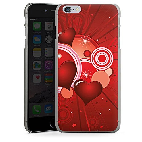 Apple iPhone X Silikon Hülle Case Schutzhülle Herz Liebe Kreis Hard Case anthrazit-klar