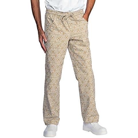 Isacco-Pantaloni da cucina per biscotti, colore: bianco