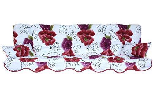 Polsterauflage Hollywoodschaukel 180x50 Modell 146 Blumen rosa violett
