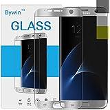 Bywin 3D Incurvé Protection écran en TPU pour Samsung Galaxy S7 Edge (Silver) Ultra-mince 0.2 mm Meilleur Film Protégé en Plastique de (Not Tempered Glass Screen Protector) ( non vitre verre trempé )