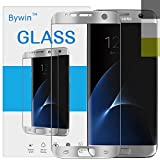Bywin 3D Incurvé Protection écran en TPU pour Samsung Galaxy S7 Edge (Silver) Ultra-mince 0.2 mm Meilleur Film Protégé en Plastique de (Not Tempered Glass Screen Protector) ( non vitre verre trempé )