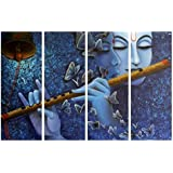 Krishna Painting 4 Frames Glittering Wall Painting Radha Krishna Wall Decorations Drawing Room Scenery Best Gift Item Unique Selection For Home Décor