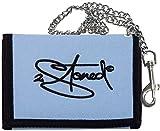 2stoned Ketten-Geldbörse Wallet mit Stickmotiv Classic Logo in Hellblau für Erwachsene und Kinder