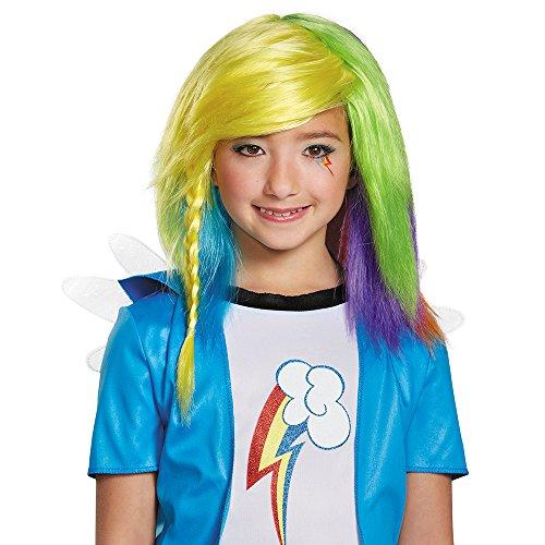 Disguise 85518 Rainbow Dash Equestria Wig Kostüm (Rainbow Dash Kostüm Zubehör)