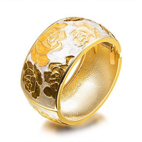 Prime Day Sale FANCYDELI Modeschmuck Vergoldete Armreifen für Damen Mädchen mit Kristallen...