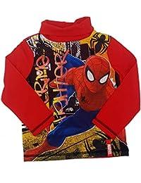 bebbd38873d0a5 PICCOLI MONELLI Dolcevita Spider Uomo Ragno Bambino Mezzo Collo 3 Anni 98  cm Rosso