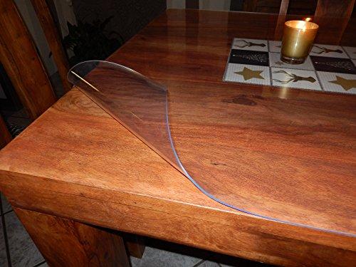 Copertura protettiva trasparente per tavolo da 2mm e di 90cm larghezza, la lunghezza può essere scelta, plastica, various colours, 160x90cm