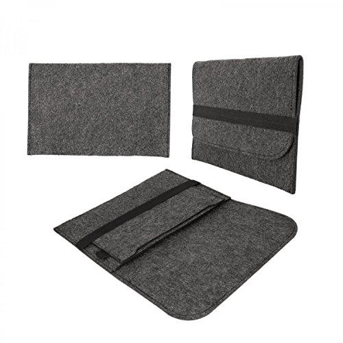 139b60b4dae eFabrik Hülle für Samsung Galaxy TabPro S Schutztasche Tasche Sleeve Case  Soft Cover Schutzhülle Filz dunkelgrau