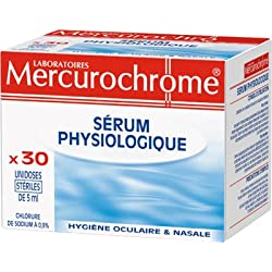 Mercurochrome Sérum Physiologique 30 Unidoses
