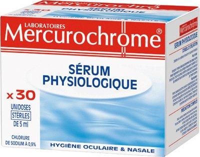 Mercurochrome Sérum Physiologique 30 Unidoses