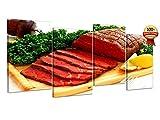 Modernes Bild auf Leinwand Druck auf Leinwand cm 60x 120(Dim.Platten cm. 30x 50–30x 50–30x 50–30x 50) Metzgerei