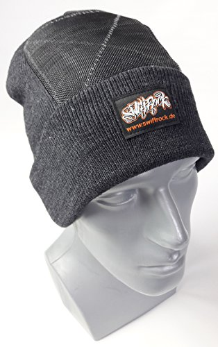 Swift Rock Classic Break Dance Headspin Beanie (Dunkelgrau / Charcoal)