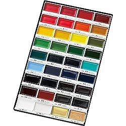 Kuretake Gansai Tambi Aquarellkasten mit 36 Farben, gut zum Einstieg