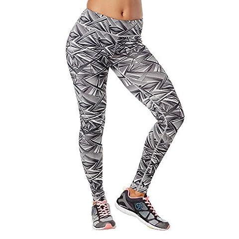 Zumba Fitness Damen WB Dazzle Me Perfect Leggings, Smoke, M, LOLE0001 : Z1B00434-SMKE