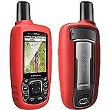 TUSITA Hülle für Garmin GPSMAP 62 62s 62st 62sc 62stc 64 64s 64st 64sc - Silikon Schutzhülle Case Cover - Outdoor GPS Navigator Zubehör (ROT)