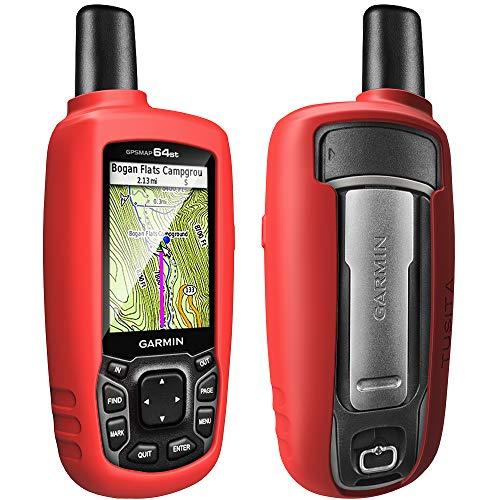 TUSITA Hülle für Garmin GPSMAP 62 62s 62st 62sc 62stc 64 64s 64st 64sc - Silikon Schutzhülle Case Cover - Outdoor GPS Navigator Zubehör (ROT) (Garmin Gpsmap 62sc-gps)