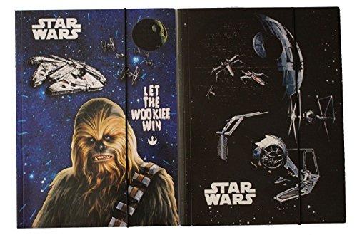 Disney Star Wars Cartelline con elastico raccoglitore Set di 2