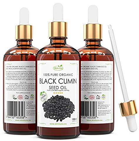Black Cumin Seed Oil 100 ml 100% Pure & Organic Coldpressed Skin Care Product-Natural Anti-Aging Moisturizer For Men & Women-Professional Acne Scar Removal/Cure For Teens, Girls, Boys-Hydrates & Fades Dark