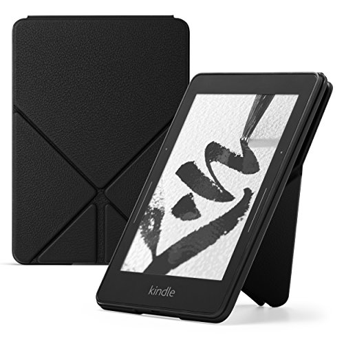 Amazon - Funda de cuero Origami para Kindle Voyage, Negro
