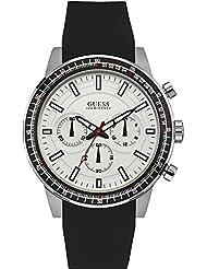 Guess Herren-Armbanduhr Analog Quarz Silikon W0802G1