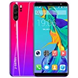 Accreate 5.8 inch Drop Screen 8MP Front Camera P33 Pro Smartphone 4G+64G 4000mAh Battery Gradient red European regulations