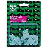 Tachones de repuesto 55 Sport para botines de fútbol, color White Hard Nylon, tamaño 12x13 mm +...