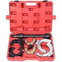 LARS360 Universal Federspanner Federspannersatz für McPherson Federbeinsysteme Satz Tuning inkl roter Tragekoffer