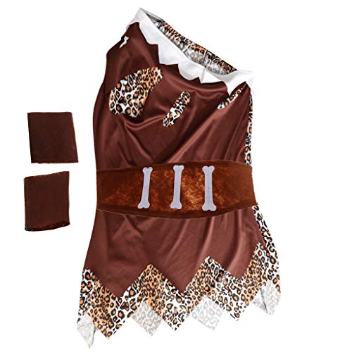D DOLITY Leoparden Höhlenmensch Kostüm Caveman Kostüm Prop für Cosplay Party