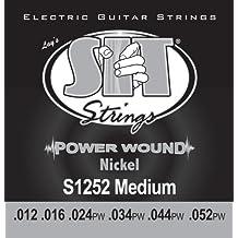 SIT S1252 - Juego de cuerdas para guitarra eléctrica de níquel, 12-52