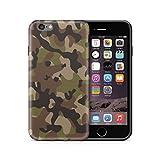 Cujas iPhone 6 6S kompatible Hülle Weiche Camouflage TPU Silikon Schutzhülle Blickdicht mit IMD Technologie Camo Militär Muster Case Schutz Handyhülle (iPhone 6 / 6S Grün)