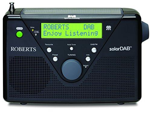 solarDABII portable (DAB+ / UKW / Solarradio mit eingeb. Ladegerät) schwarz