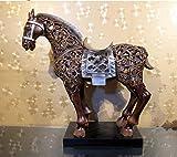 HFJ&YIE&H Ameublement classique américain creative Home Ameublement cheval résine creuse artisanat ornements cadeaux d'affaires 58 * 22 * ??59
