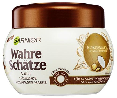 Garnier Wahre Schätze Maske Kokosmilch, 3er Pack (3 x 300 ml)