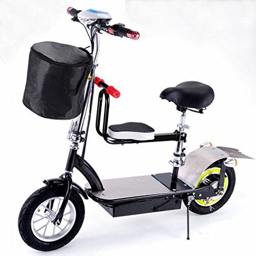 PH Mini coche eléctrico patinete para adultos plegable recargable coche dos redondo coche eléctrico Scooter eléctrico, negro