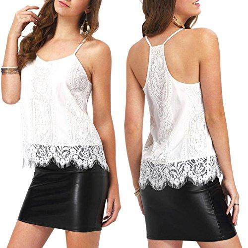 Tops Mujer, Amlaiworld Flor informal camisa de gasa de la impresión tropical (XL)