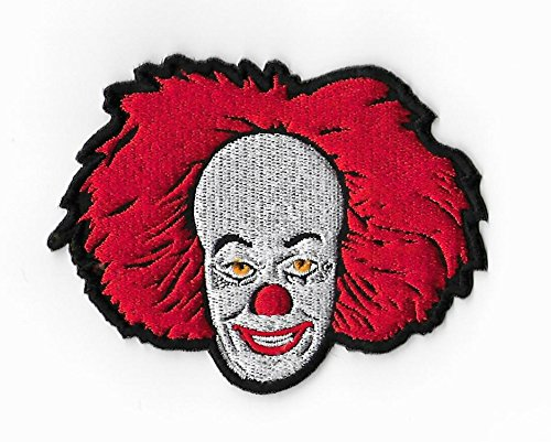 ncing Clown Patch (9 cm) DIY bestickt Eisen oder Nähen, auf Badge Aufnäher ES Horror Film Souvenir Monster Film Kostüm (Clown Kostüme Diy)