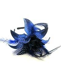 Polka Dot Feather Net Big Lily Flower Band Fascinator