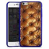 Apple iPhone 6s Plus Slim Case transparent blau Silikon Hülle Schutzhülle Leder Muster Sofa Leder Couch Look