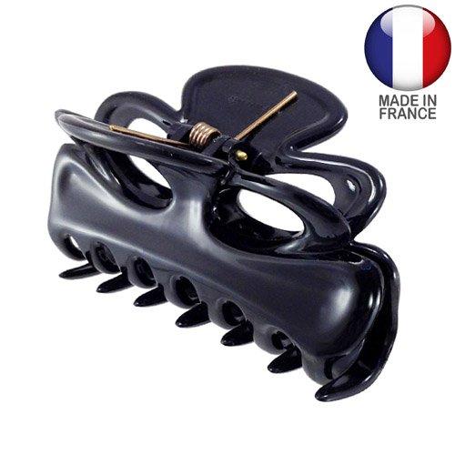 269 – 001 – Pince pour cheveux français nœud cm 7,5 Noir – Pinces pour Cheveux
