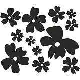 Aufkleber Blumen Set Nr.3 Autoaufkleber