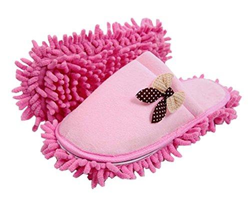 pink-bowknot-coton-mop-chaussons-amovible-et-lavable-26cm