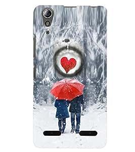 PRINTSWAG I LOVE U COUPLE Designer Back Cover Case for LENNOVO A6000