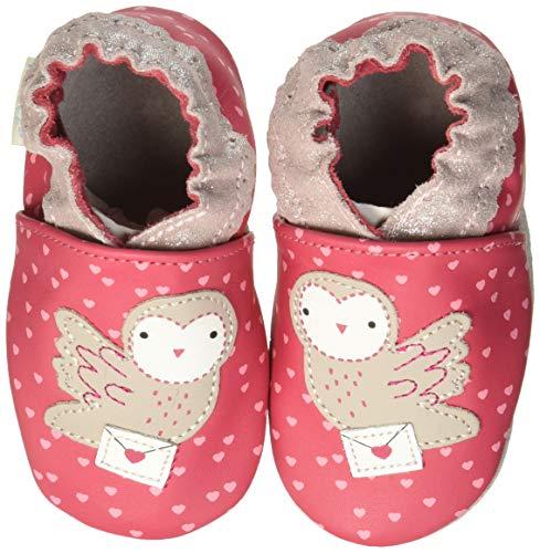 Robeez Baby Mädchen Post Owl Flache Hausschuhe, Pink (Fuchsia 21), 25/26 EU -